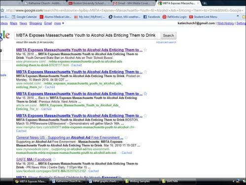Print Screen of Google Search Results for SAFE-MA press release_full