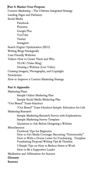 Marketing for Good Principles for Spreading Inspiration Kalamali Marketing Book Table of Contents Preview