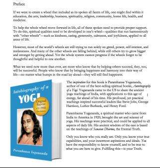 Marketing for Good Principles for Spreading Inspiration Introduction to Autobiography of a Yogi Paramhansa Yogananda